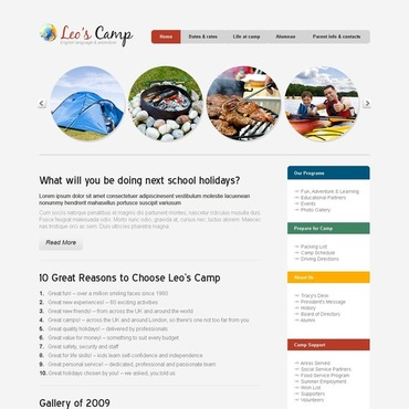 Camping Website Template