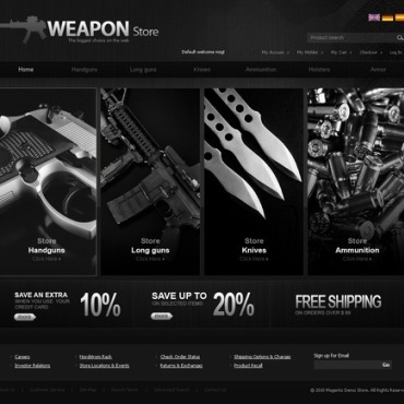 Gun Shop Magento Theme