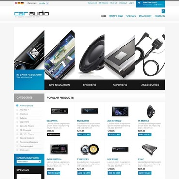 Car Audio OsCommerce Template