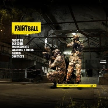 Paintball Flash Template #31293