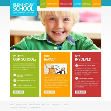 Primary School Website Template
