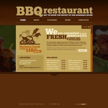 BBQ Restaurant Flash Template