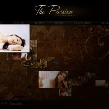 Photographer Portfolio SWiSH Template
