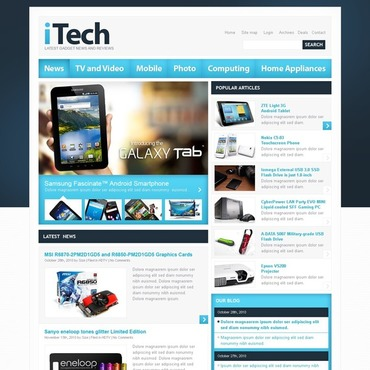 Electronics Review Website Template