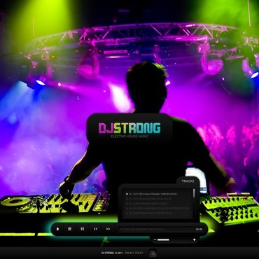 DJ Flash CMS Template