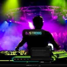 DJ Flash CMS Template