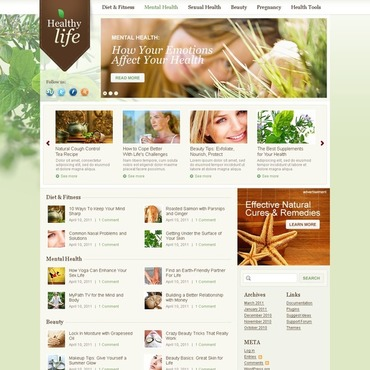 Herbal WordPress Theme