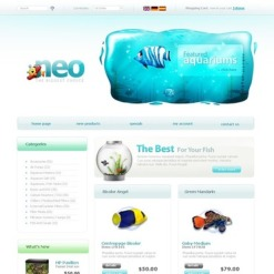Fish OsCommerce Template