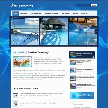 Pool Cleaning Website Template