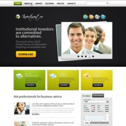 Investment Company Turnkey Website 2.0