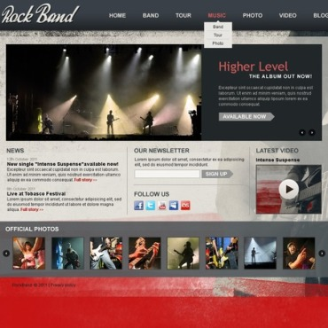 Music Band Drupal Template