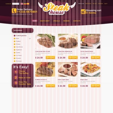 Steakhouse OsCommerce Template
