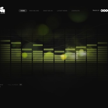 Music Portal Facebook Flash CMS Template