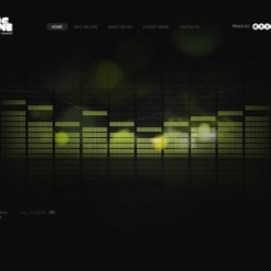 Music Portal Facebook Flash CMS Template