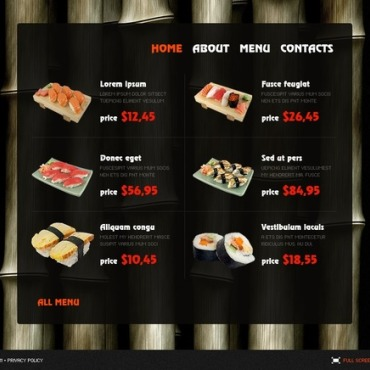 Sushi Bar SWiSH Template