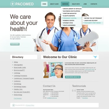 Rehabilitation Website Template