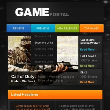 Game Portal Facebook Template