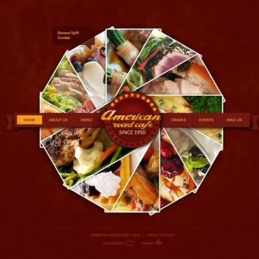 Fast Food Restaurant Flash CMS Template