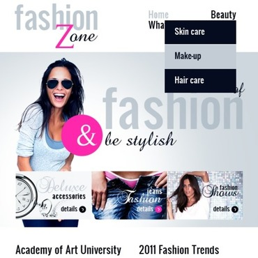 Fashion Blog Turnkey CMS Facebook Template