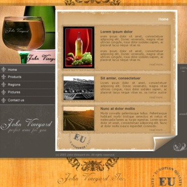 Winery Flash Template
