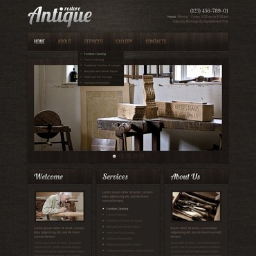 Antique Store Turnkey Website 2.0