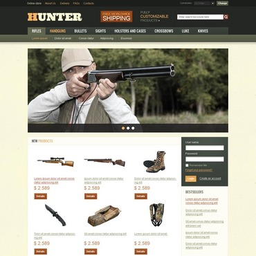 Hunting VirtueMart Template