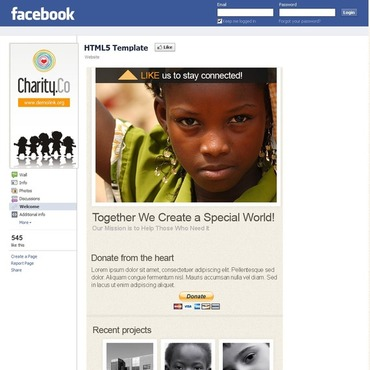 Charity Facebook Template