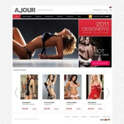 Lingerie Facebook Flash Template