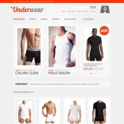 Men's Underwear Facebook Flash Template