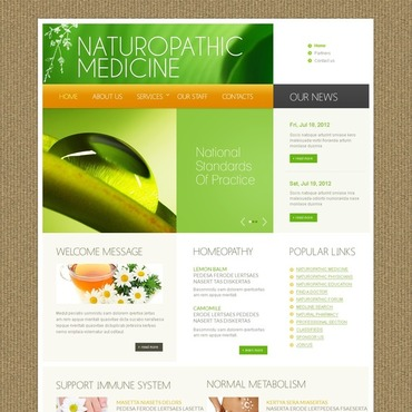 Herbal Website Template