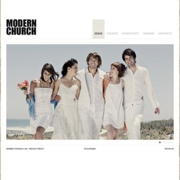 Christian Flash CMS Template