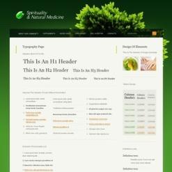 Herbal PSD Template