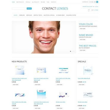 Optometrist's ZenCart Template