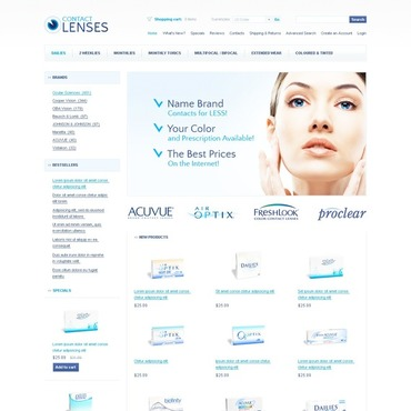 Optometrist's OsCommerce Template