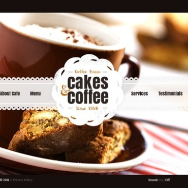Coffee Shop Flash Template