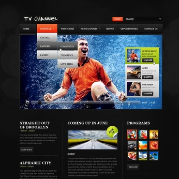 TV Channel Website Template