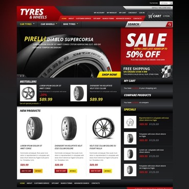 Wheels & Tires Magento Theme