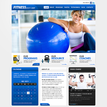 Fitness Website Template #37709