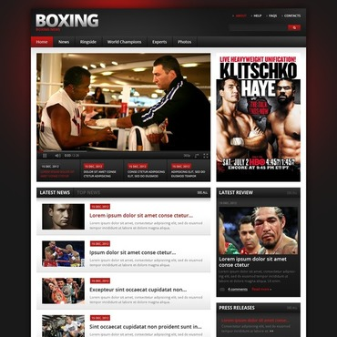 Boxing Website Template