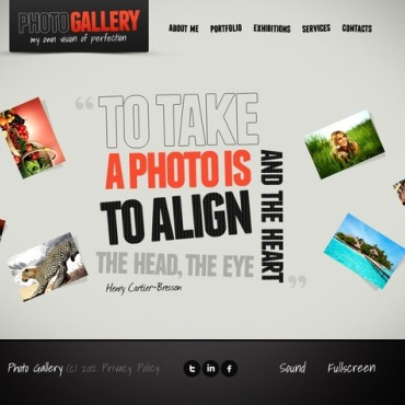 Photo Gallery Flash Template