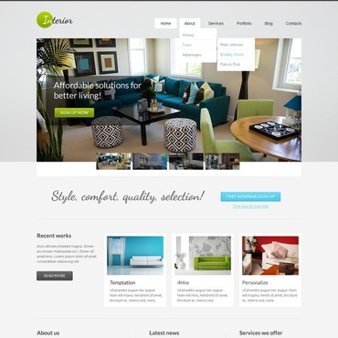 Interior & Furniture WordPress Theme