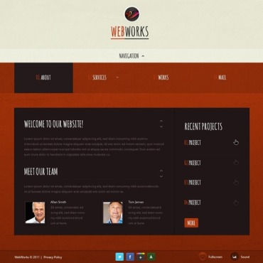 Web Design Facebook Flash Template