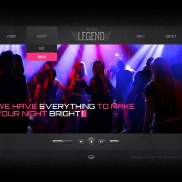 Night Club Flash Template #38317