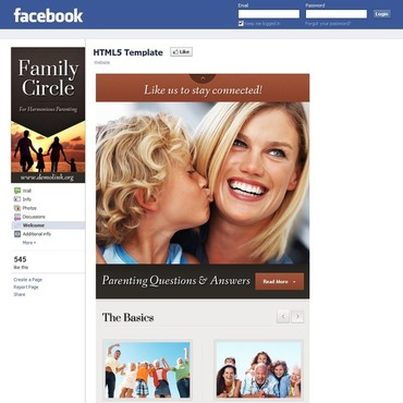 Family Center Facebook Template