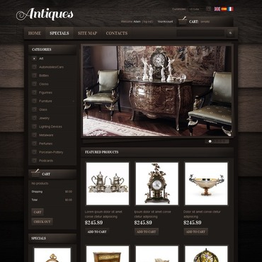 Antique Store PrestaShop Theme