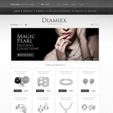 Elite Jewelry Magento Theme #38609