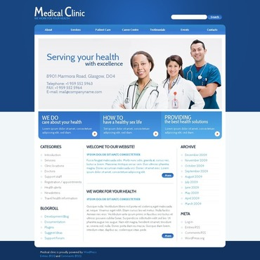 Medical Flash CMS Template