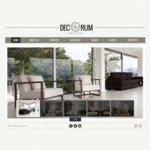 Interior Design Flash CMS Template