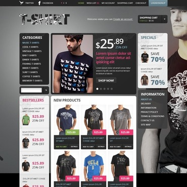 T-shirt Shop OpenCart Template