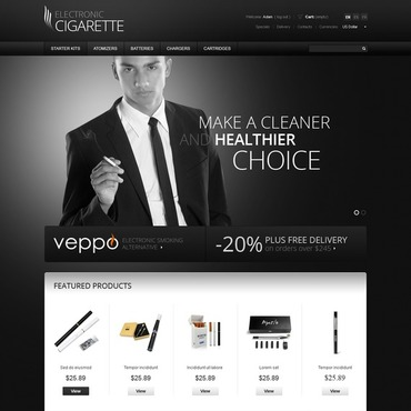 Tobacco PrestaShop Theme